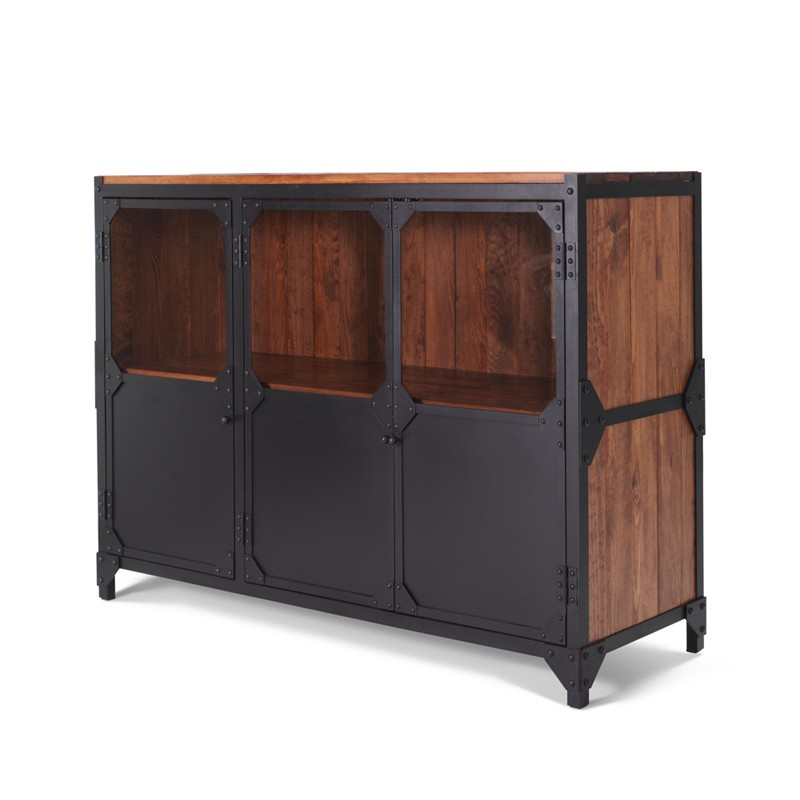 anrichte sideboard brooklyn aus eisen in industrial design. Black Bedroom Furniture Sets. Home Design Ideas