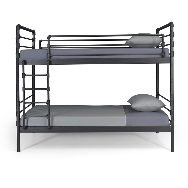 nodus ein hochbett aus wasserrohren im industrial stil notoria. Black Bedroom Furniture Sets. Home Design Ideas