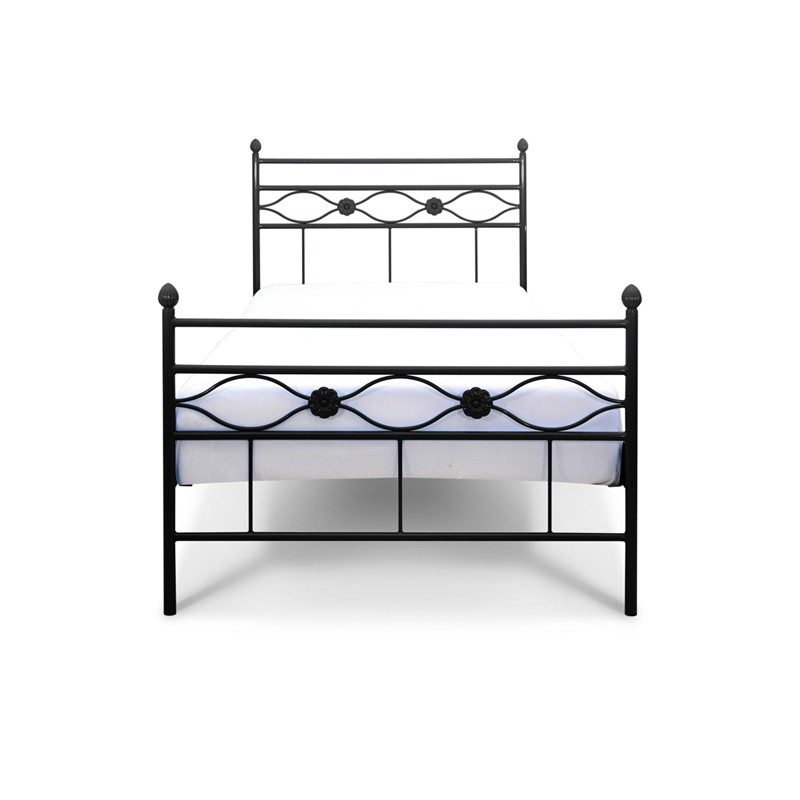 floris wei es metalbett 90x200 cm f r die kleine prinzessin notoria. Black Bedroom Furniture Sets. Home Design Ideas